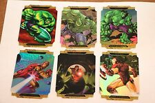 2008 Upper Deck Marvel Masterpieces Hulk Iron Man A B C Die Cut Foil Set Insert
