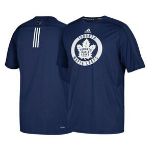 Toronto Maple Leafs NHL Adidas Men's Navy Climalite Center Ice Training T-Shirt