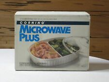 NIB Vintage Corning Microwave Plus MC-6 Covered Divided Dish