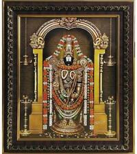 Hindu God Wooden Tirupati Balaji Lord Venkateswara Swami Wooden Photo Frame