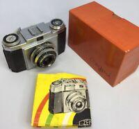 Rare Vtg Zeiss Ikon Contina IIa Camera -Boxe d& Manual-Novar Anastigmat Lens#511