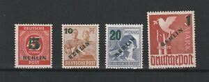 Berlin MiNr. 64-67 ** - Postfrisch - Geprüft