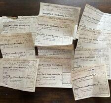 1912 Pre-Pro - Wm. J. Lemp Brewing Co. Receipts - St. Louis Mo