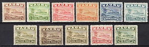 NAURU 1924-1947 11 values almost complete set MH (Ships) - FREE SHIPPING