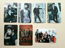 """SHINEE """"The First"""" Special Photo Card  SET - from Fan Site, unofficial / Thin"""