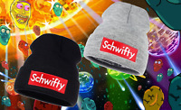 2x Rick And Morty Get Schwifty Skully Hats Knitted Beanie Skull Cap Black & Gray