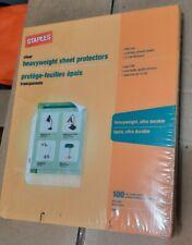 Staples Heavyweight Sheet Protectors Top Loading Heavy Duty 31866