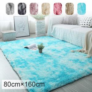 Fluffy Anti-Slip Rugs Bedroom Super Soft Carpet Mat Living Room Floor 80x160cm