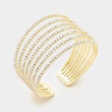 Statement Celeb Glam Gold Crystal Cuff Bangle Bracelet By Rocks Boutique