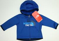 NWT $40 The North Face Hoodie Full Zip Blue Hooded Jacket Infant Size 0-3M