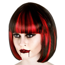 Adult Ladies Short Bloodlust Vampire Wig Fringe Halloween Fancy Dress Dracula