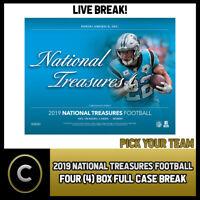 2019 PANINI NATIONAL TREASURES NFL 4 BOX FULL CASE BREAK #F472 - PICK YOUR TEAM