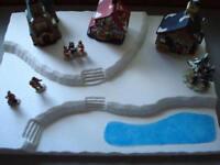 Christmas Village Display Platform J8 For Lemax Dept 56 Dickens + More