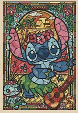 Disney Lilo and Stitch Stained Glass Counted Cross Stitch Complete Kit  #10-72
