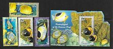 SAMOA Sc 1058-61A NH SET+SOUVENIR SHEET OF 2004 - SEA LIFE