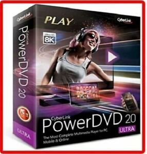 Powerdvd ULTRA Cyberlink 20 NEW! 4k 8k Playback! Lifetime FAST AUTHORIZED DEALER