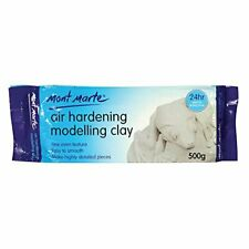 Mont Marte White Air Hardening Modeling Clay, 500g (1.1lb). Dries (1.1lb|White)