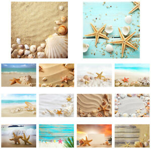 Beach Starfish Plank Backdrop Cloth Photographic Background 5x3ft 7x5ft