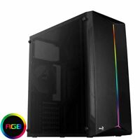 Aerocool Split RGB Strip Midi ATX Gaming PC Case Acrylic Glass Side Panel