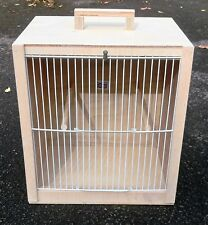"Bird Carry Box  Carrying Cage 12.5"" x 14"" x 10"" (White Fronts)"