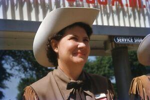 1950's Slide Fort Worth Lady Shriner Ford Rotunda Sign Greenfield Village Red