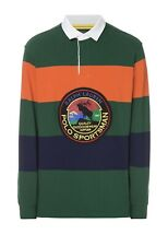 Polo Ralph Lauren Sportsman Patch Long Sleeve Rugby Shirt Colorblock Mens XXL