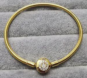 Pandora Gold 569046C01 Moments Crown O Chain Bracelet SIZE 17 cm S925 ALE