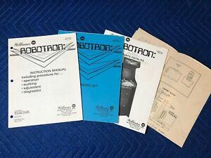 Original Williams Robotron Instruction Manual Part Catalog Drawing Set Cab Sheet