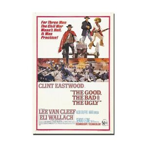 The good The Bad and The Ugly Canvas Silk Movie Poster Print 13x20 24x36 inch
