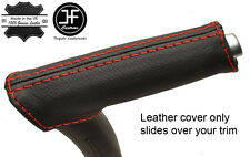 RED STITCH REAL LEATHER HANDBRAKE HANDLE COVER FITS AUDI A3 8P 04-12