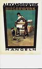 Original vintage print ALEXANDERWERK LINEN PRESS c.1920