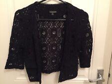 Warehouse Lace Cropped Jacket - Size 6