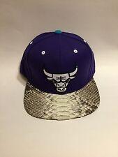 Custom Python Mitchell & Ness Strapback - Chicago Bulls (Purple)