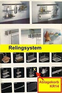 Relingsystem Ablagekorb, Reling-System Küchenreling Ordungssystem Küche  KR 14