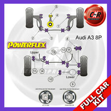 Audi A3 Mk2 8P 2WD (2003 Powerflex Completo Kit Boccole
