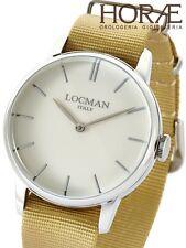 Orologio uomo Locman collezione 1960 0251V05-00AVNKNH acciaio beige nylon bianco