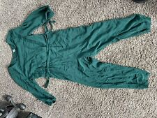 old navy long sleeve green jumpsuit