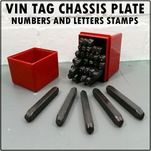 5mm Number Letter Stamp Identity Vin Plate Chassis Tag Classic Car Renovation