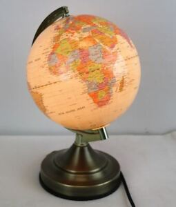Fucashun Touch-Activated Light Up Globe  Desk Table Lamp 13'' Good Shape Works