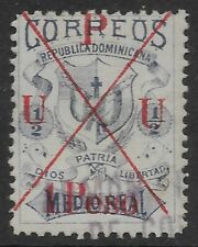 More details for stamps-dominican republic. 1891. 1 peso parisot overprint in red. sg: 23var. fu.