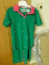 NWOT Quacker Factory Green w/pink Pineapple Skirt, Pants 4 set Extra Small
