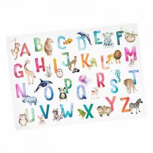 Kinder Lernposter Tier ABC Watercolor - Wanddeko Kinderzimmer
