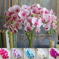 Artificial Butterfly Orchid Silk Flower Wedding Decor Phalaenopsis Bouquet