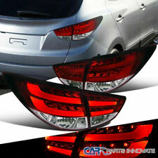 For Hyundai 10-12 Tucson Red Clear LED Rear Tail Lights Brake Lamps Left+Right