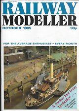 "*RAILWAY MODELLER MAGAZINE: OCTOBER 1985 ft ""A FURTHER LINE FROM LYNBRIDGE"" [NO]"