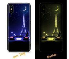 ♨️ iPhone 8 / 7 ✔ Leuchtender Eiffelturm ✔ Glas Hülle Case Cover Lamborghini ♨️