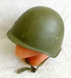 Soviet Russian Army Steel Hel-met WW2 Model SSH-40 Size 1 1957 Red October