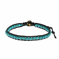 AeraVida Set of 3 Light Pink Treasure Rhodonite Fashion Brass Beads Wrap Bracelet