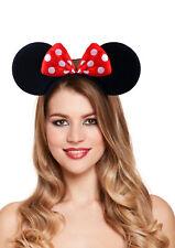 Enfants Garçons Mickey Mouse Noir Serre-tête Oreilles accessoire robe fantaisie