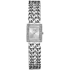 New Authentic Guess Silver tone  double stainless Chains u85119l1 New With TAg